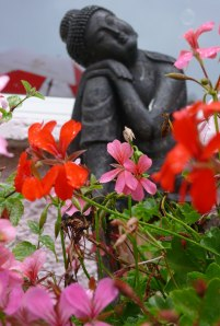 Buddha in my Reiki garden